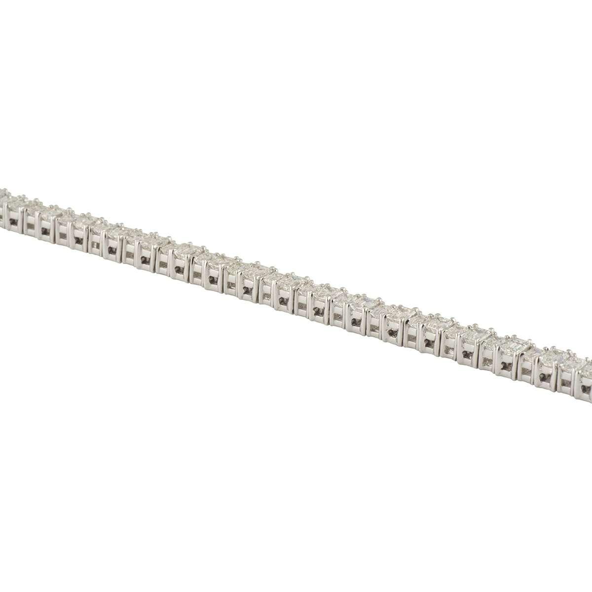 White Gold Diamond Line Bracelet